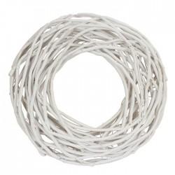 Věnec proutěný bílý pr. 30 cm