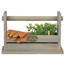 Stolička a bedýnka na nářadí, borové dřevo