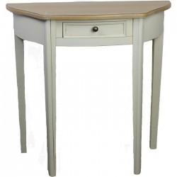 Dřevěný stůl bílý, oblouk