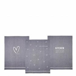 Kuchyňská utěrka KITCHEN, 50x70 cm, šedá. 1 ks