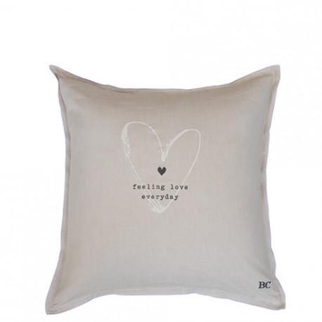 Povlak na polštář FEELING LOVE, béžová, 50x50 cm