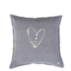 Povlak na polštář FEELING LOVE, šedá, 50x50 cm