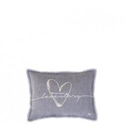 Polštář LOVE STORY, šedá, 25x35 cm
