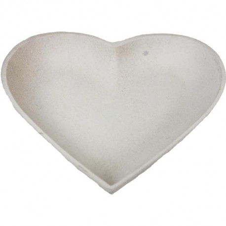 Podnos srdce bílý