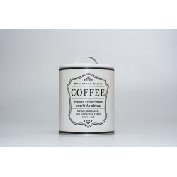Plechová dóza COFFEE, bílá, 16,5 cm