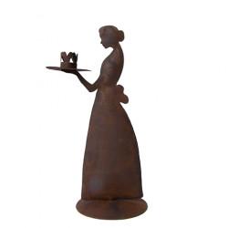 Svícen LADY ANTIQUE, hnědá, 32 cm