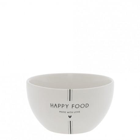 Miska HAPPY FOOD, černá, 13x7 cm