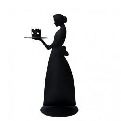 Svícen LADY ANTIQUE, černá, 32 cm