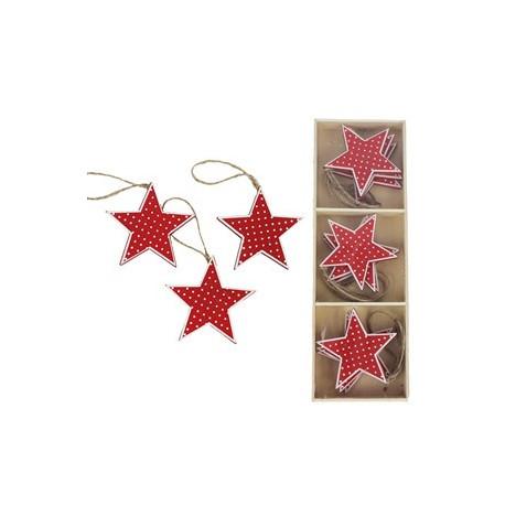 Dřevěná hvězda 1ks