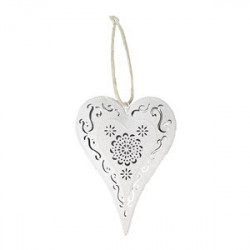 Kovové srdce bílé