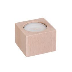 Svícen dřevěný pro 1 svíčku - hranatý