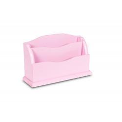 Dřevěný organizér 27x8x16,5 cm - růžový