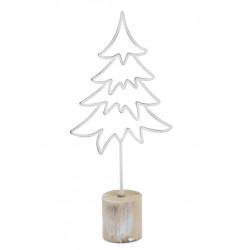 Dekorace stromek, bílá, 46 cm