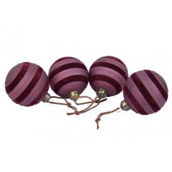 Ozdoba koule, vínově-fialová, 8 cm, 1 ks