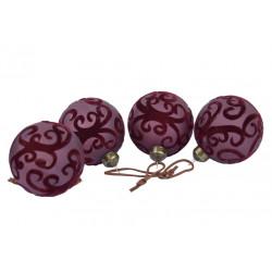 Ozdoba koule, matná fialová, 7 cm, 1 ks