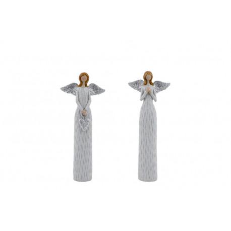 Anděl Anna, bílá, 16 cm, ASS