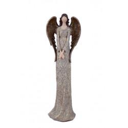 Anděl Bea, hnědá, stojící, 39 cm, ASS