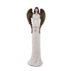 Anděl Bea, bílá, stojící, 39 cm, ASS