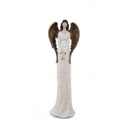 Anděl Bea, bílá, stojící, 31 cm, ASS