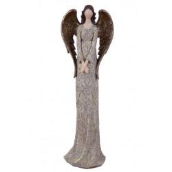 Anděl Bea, hnědá, stojící, 48 cm, ASS