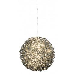 Svítidlo koule, 60 LED, černá, 27 cm