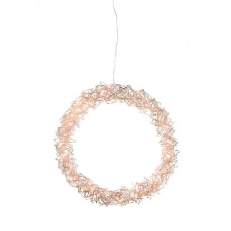 Kruhové svítidlo, zlatá, 80 LED, 50 cm