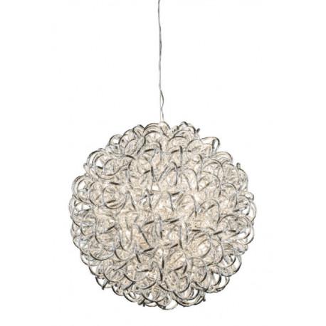 Koule svítidlo, stříbrná, 60 LED, 27 cm