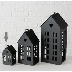 Lucerna domek, černá, malá