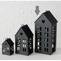 Lucerna domek, černá, velká