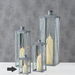 Lucerna Farol, šedá, 16,5 cm