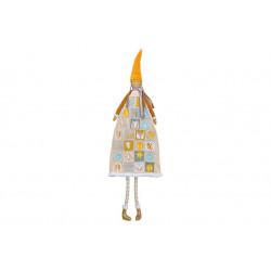 Adventní kalendář Holčička, žlutá, 140 cm