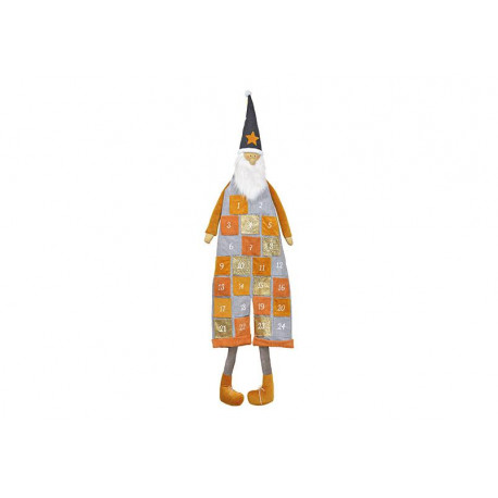 Adventní kalendář SANTA, okrová, 130 cm