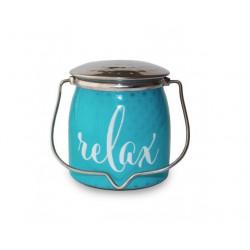 MILKHOUSE CANDLE Relax vonná svíčka BUTTER JAR 2-knotová (454 g)
