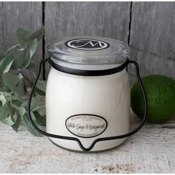 MILKHOUSE CANDLE White Sage & Bergamot vonná svíčka BUTTER JAR 2-knotová (454 g)