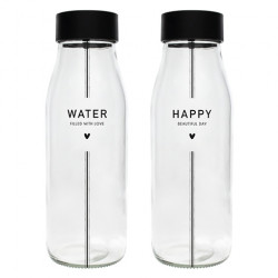 Karafa WATER/HAPPY, černá, 1 l