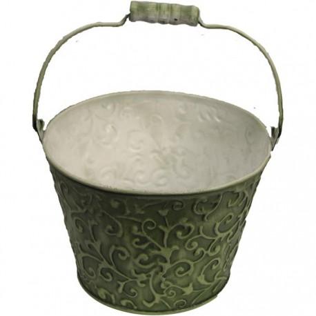 Květináč kov zelený