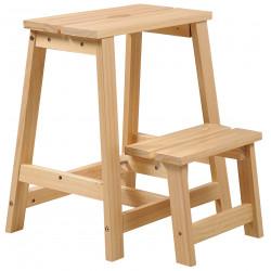 Přírodní borovicová stolička/schůdky
