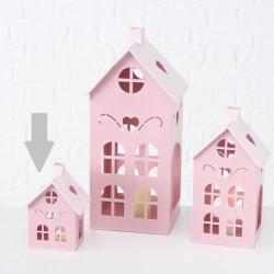 Lucerna domek, malá, růžová