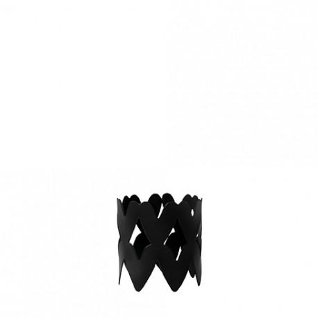 Kroužek na ubrousky, černá, 4x3,5 cm