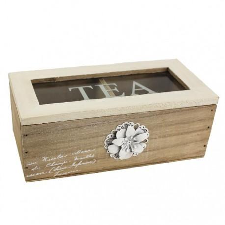 Krabička na čaj s dekorací