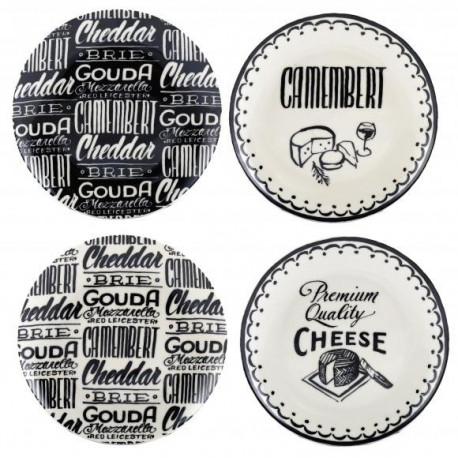Keramické talíře na sýry