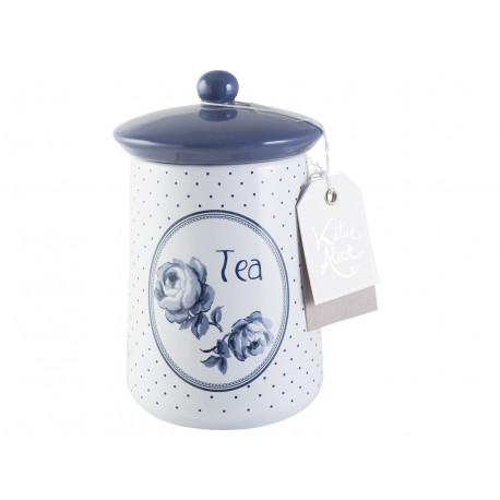 Keramická dóza na čaj Vintage Indigo