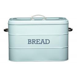 Plechová dóza Living Nostalgia na chleba modrá