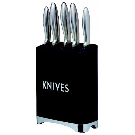 Kovový stojan na nože Lovello černý