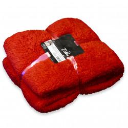 Heboučká deka Teddy hliněná červená