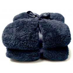 Heboučká deka Teddy tmavě modrá