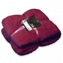 Heboučká deka Teddy tmavě červená