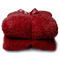 Heboučká deka Teddy červená