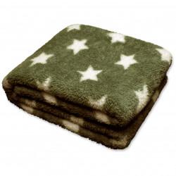 Zimní deka Stars olejová zelená