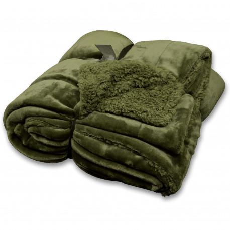 Teplý zimní pléd Jonas avokádový zelený
